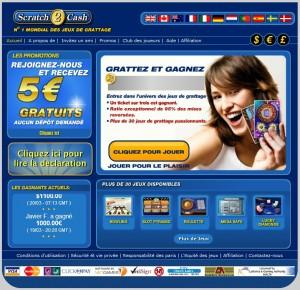 Scratch2cash-jeu de grattage en ligne-jeux de loterie et de carte à gratter avec un bonus de 5€