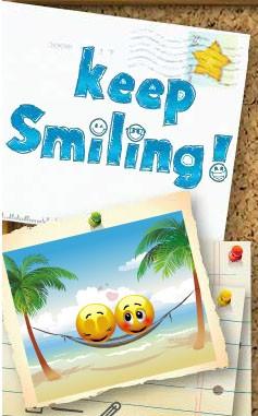 Keep smiling grattage